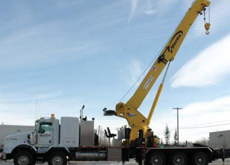 35-ton truck mounted hydraulic crane