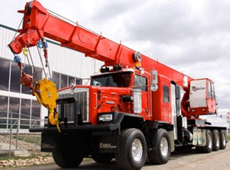 45-ton truck mounted hydraulic crane