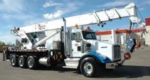 50-ton truck mounted hydraulic crane